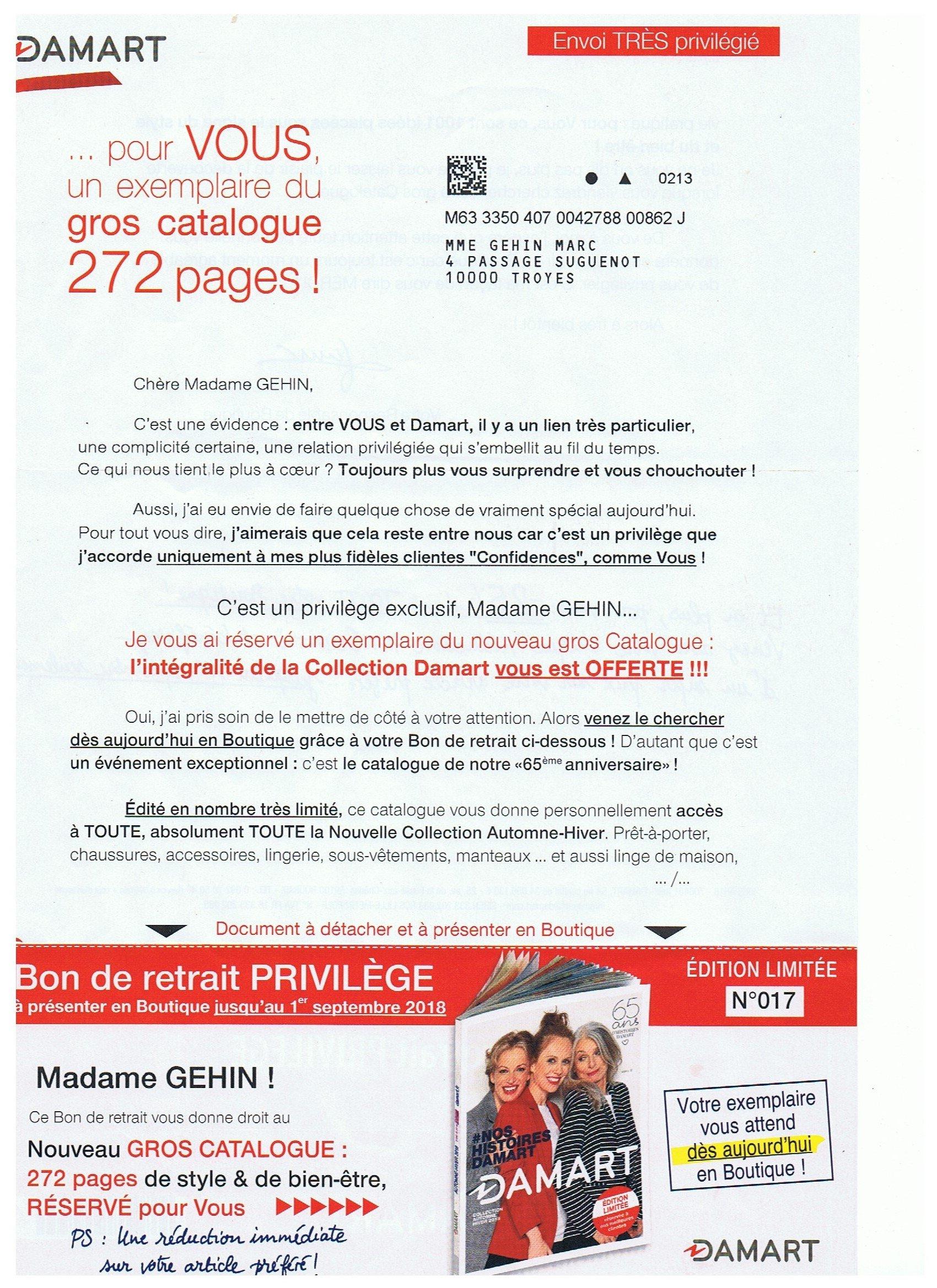 utterly stylish best prices uk availability DAMART CATALOGUE - Détails sur catalogue DAMART Printemps ...